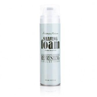 Schiuma da barba  Facilita la rasatura. Rende la barba più morbida e docile al rasoio. Gli oli di paraffina proteggono la pelle, prevenendone il disseccamento eccessivo. L'estratto di foglie di aloe vera svolge un'azione idratante e rigenerante. L'allantonina lenisce le irritazioni e accelera la guarigione delle ferite.  #FMGroup #shavingfoam #formen