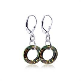 Plus Size Volcano Donut Crystal .925 Silver Earrings with Swarovski Elements image