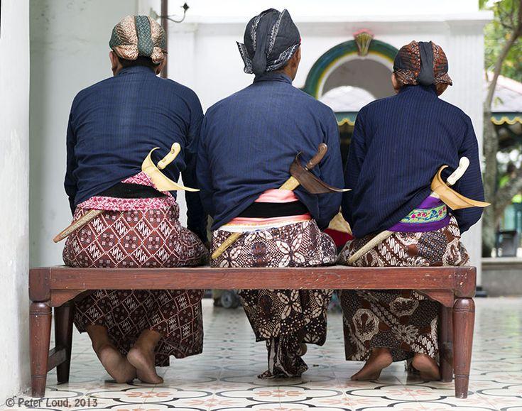 Kraton Staff with Kris, Yogyakarta, Indonesia