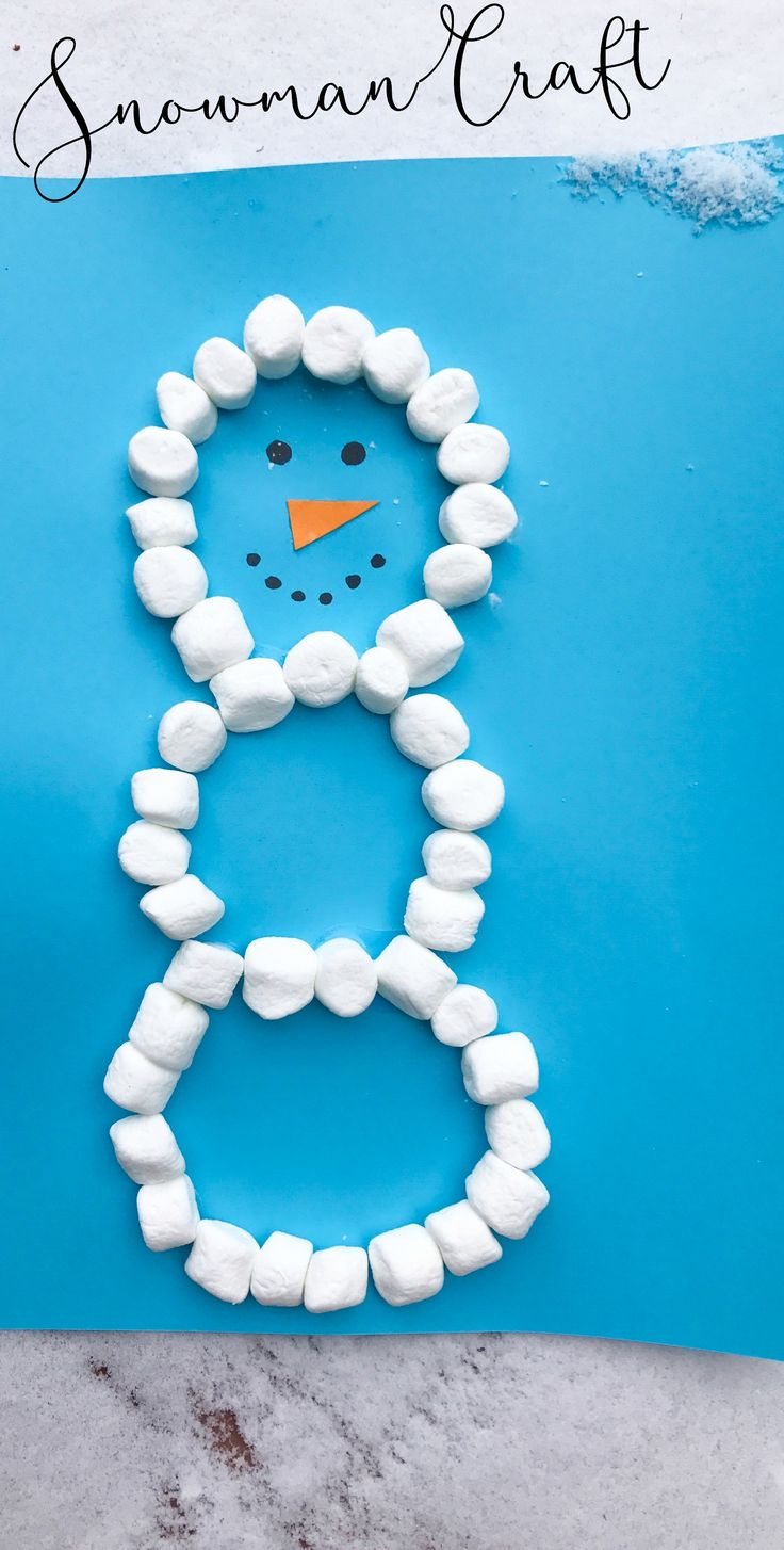 Snowman Book and Craft: Easy Marshmallow Snowman - The Chirping Moms