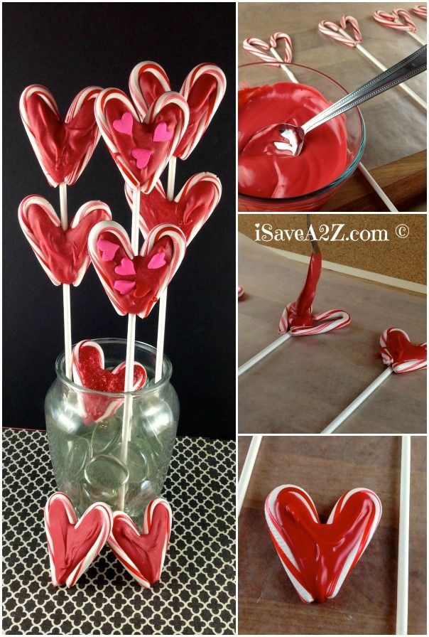 Valentine's Day Lollipops bouquet made from candy canes ingredients needed