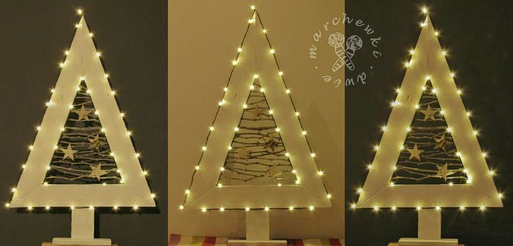 Christmas tree. Made of pallet, vine branches and birch bark stars. https://www.instagram.com/dwie_marchewki