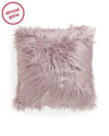 20x20 Faux Mongolian Fur Pillow