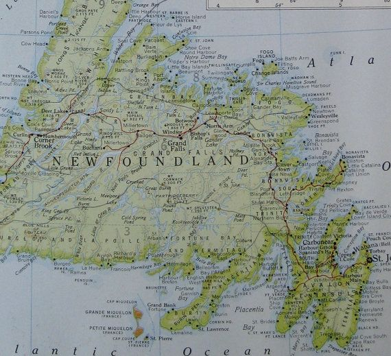 Best Newfoundland Map Ideas On Pinterest Newfoundland And - Map of newfoundland