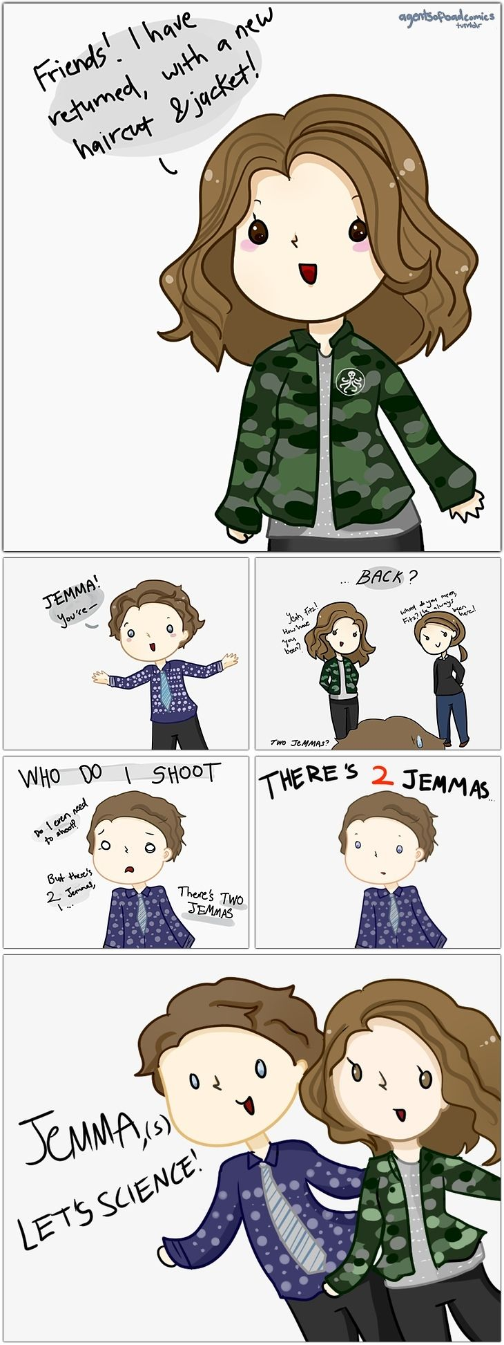 2 Simmons || Leo Fitz, Jemma Simmons || Agents of Bad Comics || #fanart #humor #fitzsimmons