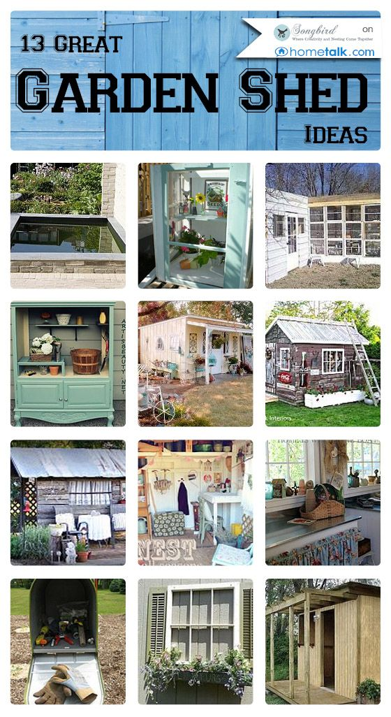 13 Great {Garden Shed} Ideas