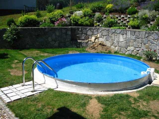15 Pool Halb Eingelassen Garten Gestaltung Gartengestaltung