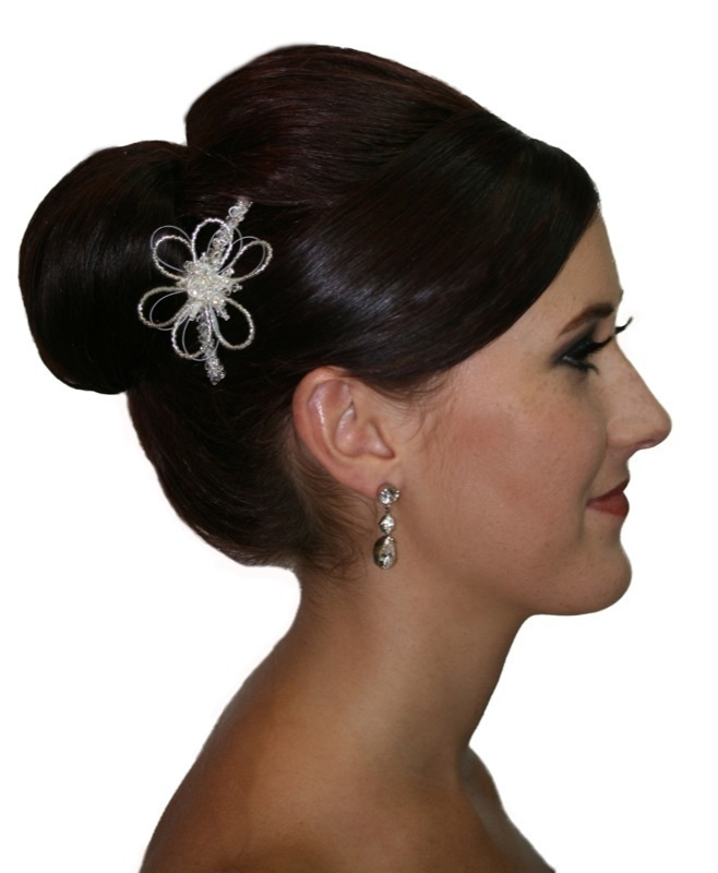 Handmade swarovski crystal flower hair comb/ hair piece. Perfect for bride wedding or bridesmaid  www.redki.com.au Hair by Ultimate Bridal, Hair piece by Redki Wearable Art.