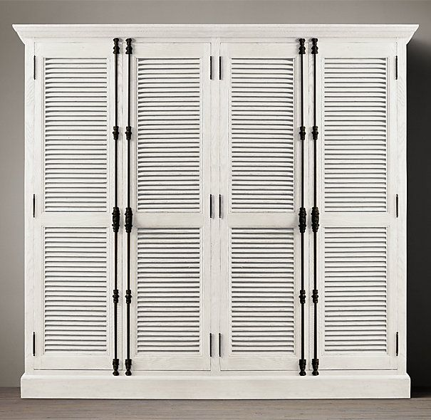 Restoration Hardware Shutter Door Double Cabinet with Cremone Bolts