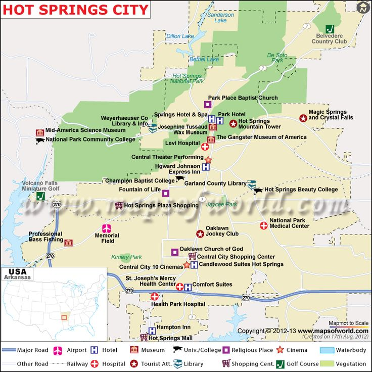 Hot Spring City Map