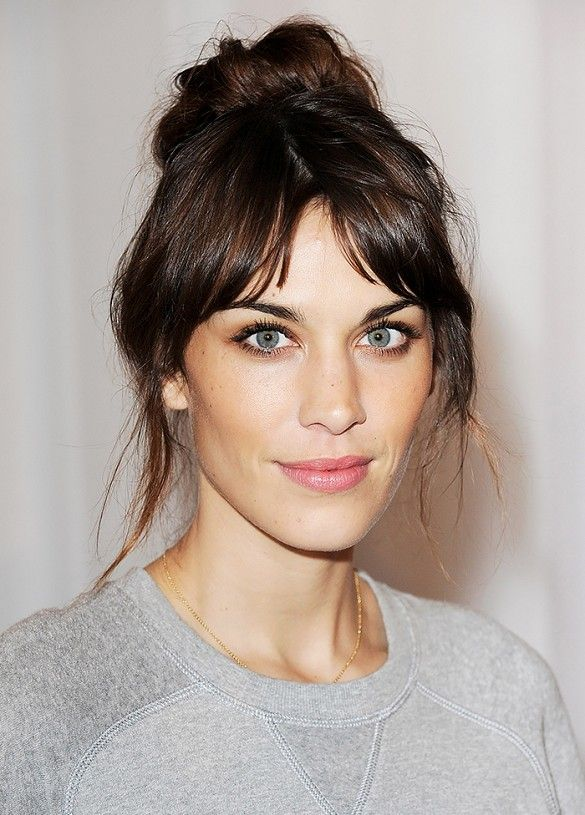 Alexa Chung's effortless bun