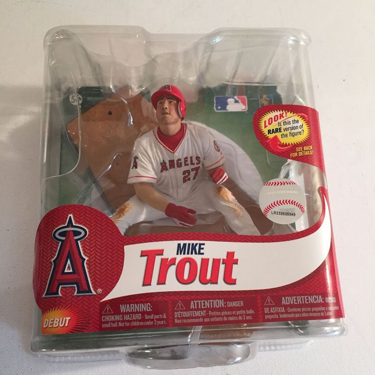 "McFarlane Sportspicks Mike Trout MLB 31 White Jersey Angels 5"" Action Figure #McFarlaneToys"