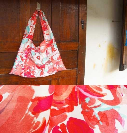 red flower print BAG