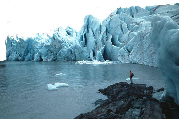 Frente del glaciar Grey, en Torres del Paine CHILE. In front of Grey Glacier, in Paine National Park