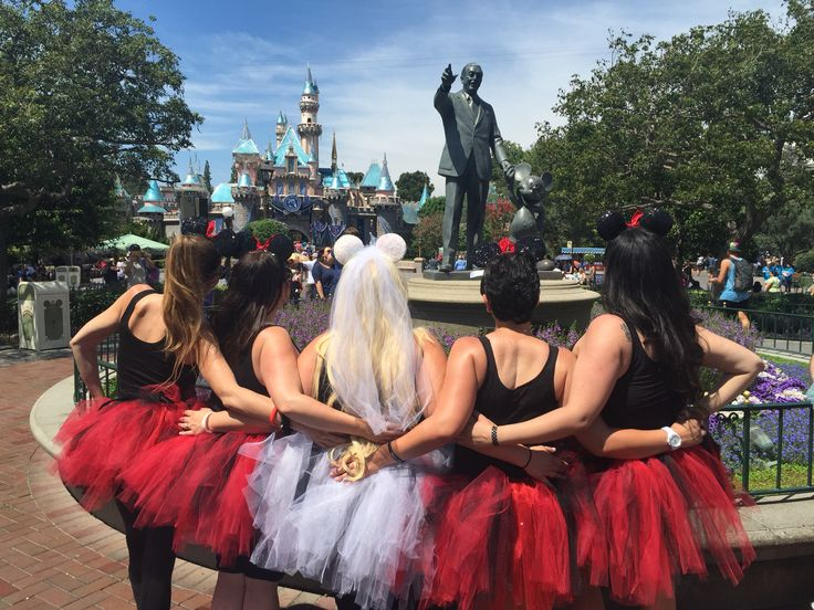 Disneyland bachelorette party! The tutus and ears made it all! So many compliments! #Disneyland #bachelorette