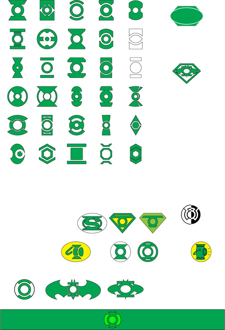Green Lantern Symbols