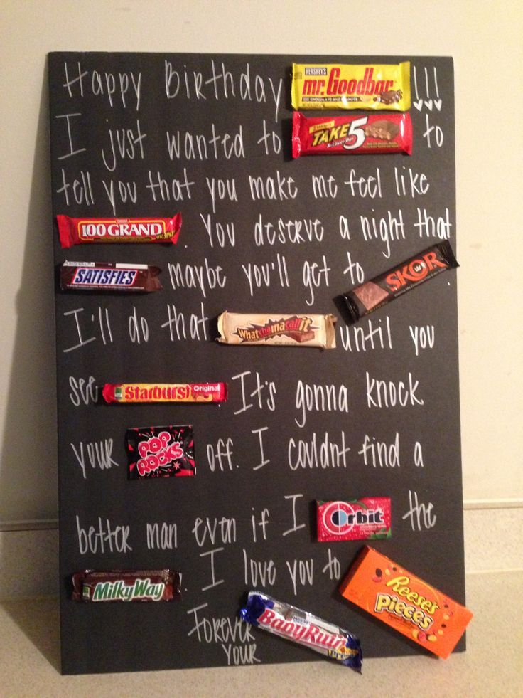 187 best images about candy bar posters on pinterest for Gift to give your boyfriend for his birthday