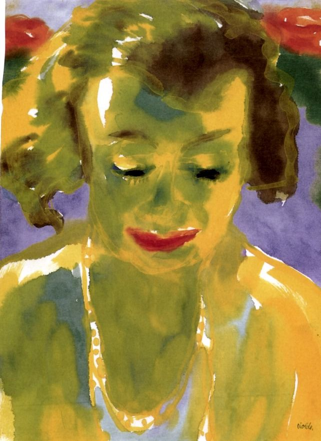Portrait of a Woman (also known as Yellow and Green) Emil Nolde - 1930