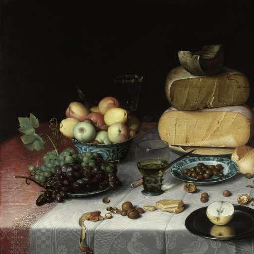 Still Life with Cheese, Floris Claesz. van Dijck, c. 1615 - Search - Rijksmuseum
