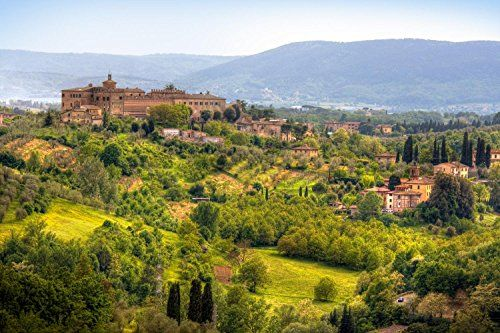 Wallmonkeys Image of Typical Tuscan Landscape Peel and Stick Wall Decals WM92053 48 in W x 32 in H *** You can find more details by visiting the image link.