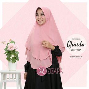 Khimar Zizara Ghaida Dusty Pink - hijab kerudung khimar jilbab syari Kini hadir untukmu yang cantik syari dan trendy . . Detail: - Bahan ceruti amunzen adem dan nyaman - Pet antem - 2 layer - Model cutting tepi oval - Jahit tengah - Warna asli 5% lebih gelap dari foto . . Harga: Rp 135.000 (size L) . . www.facebook.com/gamiszizara www.tokopedia.com/gamiszizara www.bukalapak.com/gamiszizara www.gamiszizara.com . . Instagram: @gamiszizara Line: @gamiszizara Add Line klik…