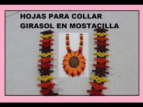 HOJAS PARA COLLAR GIRASOL EN MOSTACILLA - YouTube