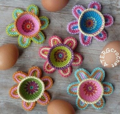 Crochet Egg Holder : Crocheted Easter egg holders Hookin with Uncle B Pinterest