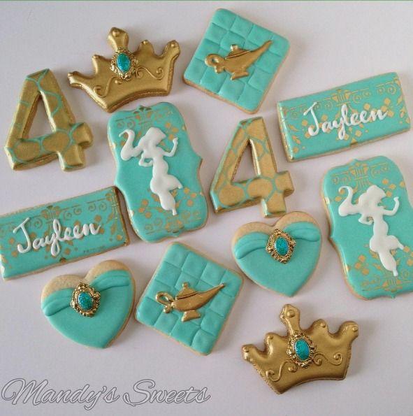 """MANDYS SWEETS on Instagram: """"Princess Jasmine inspired cookies ✨#princessjasmine #jasmine #jasminecookies #princessjasminecookies #arabiancookies #princessjasmineparty #genie #genielamp #mandyssweets"""""""
