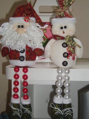 Papail noel e boneco de neve