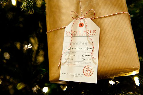 "Here comes a A Gift From the North Pole. Finish off gifts with a tag from the ""North Pole Tracking and Delivery"" service and kids will never suspect Santa wasn't behind their presents."