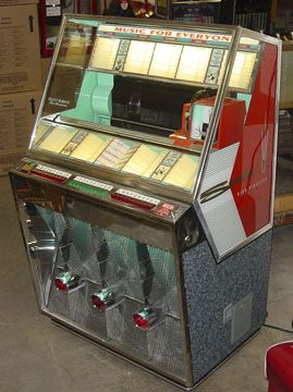 Old jukeboxes...there were no CDs or digital music here-they used good ole 45 records! lol