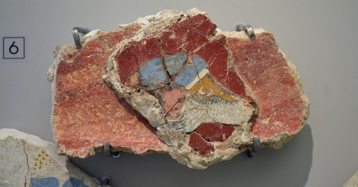 """From the  """"House of the frescoes """", Knossos, Neopalatial period (1600-1450 B.C)"""