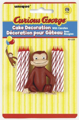 Curious George Cake Decoration and Candles, 6ct for only $4.22