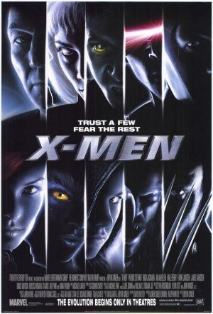 X-Men movie poster -- amazing series with very good looking people to look at ;)