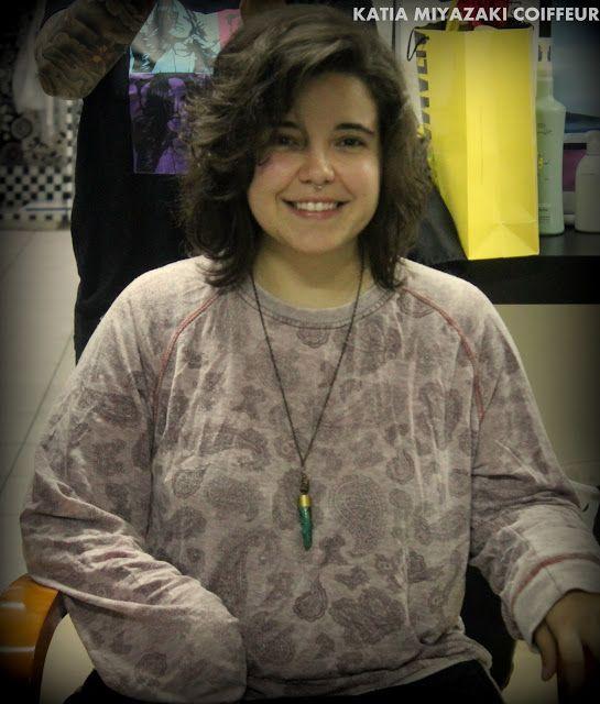 Katia Miyazaki Coiffeur - Salão de Beleza em Floripa: Corte Curto -  Long bob para cabelos ondulados - S...