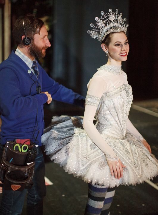 Am living that Headdress ....Grant Heaps and Alexandra MacDonald backstage at The #Nutcracker. Photo by Bruce Zinger.