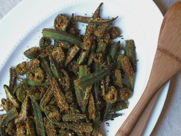 Spicy Oven-Roasted Okra - The Fitchen