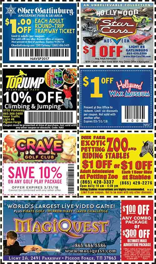 Discount coupons wonderworks pigeon forge