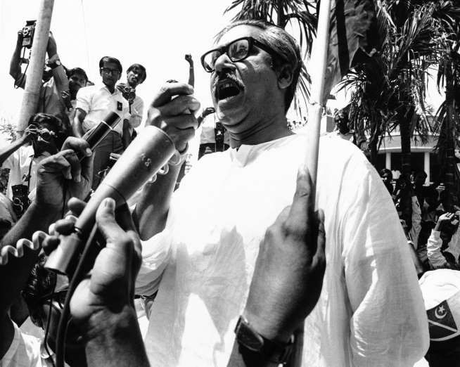March 26,  1971: BANGLADESH DECLARES ITS INDEPENDENCE  -    Awami League leader Sheikh Mujibur Rahman declares East Pakistan to be the independent republic of Bangladesh, following a massive civil disobedience movement in the country.