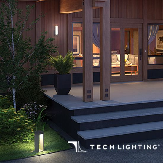 Get ready for outdoor entertaining light up your yard with contemporary tech lighting we love pairing the the syntra path light and cosmo sconces for an