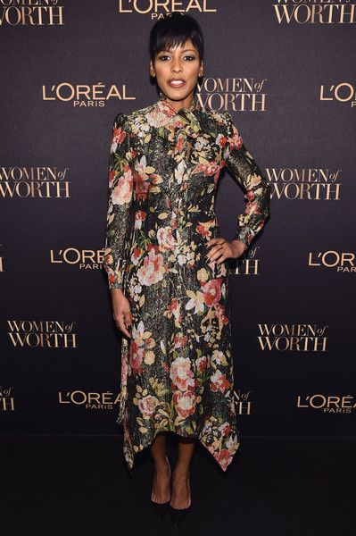 Today Show Anchor Tamron Hall attends the  L'Oreal Paris Women of Worth Celebration 2016 Arrivals on November 16, 2016 in New York City.