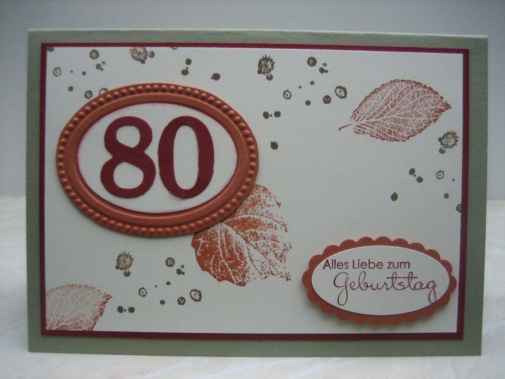Einladung 80 Geburtstag Selber Machen
