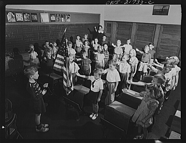 "The Bellamy salute is the salute described by Francis Bellamy to accompany the American Pledge of Allegiance, which he had authored. During the period when it was used with the Pledge of Allegiance, it was sometimes known as the ""flag salute"". During the 1920s and 1930s, Italian fascists and Nazis adopted salutes which were similar in form, resulting in controversy over its use. It was officially replaced by the hand-over-heart salute when Congress amended the Flag Code on December 22, 1942."