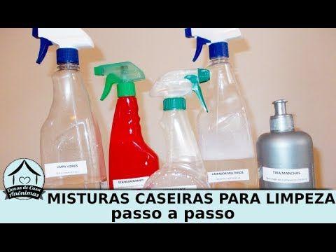 5 misturinhas caseiras para limpeza usando vinagre, bicarbonato, deterge...