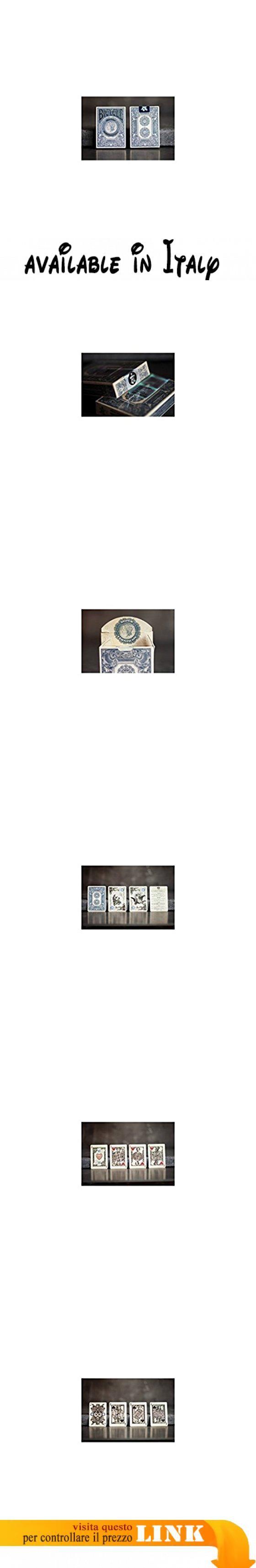 US Playing Card Co. - Baraja bicycle silver certificate edición limitada por gambler.  #Giocattolo #TOYS_AND_GAMES