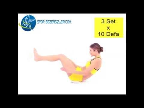 Bel ve Karın Kası Sıkılaştırma Hareketi 3 - Spor Egzersizleri