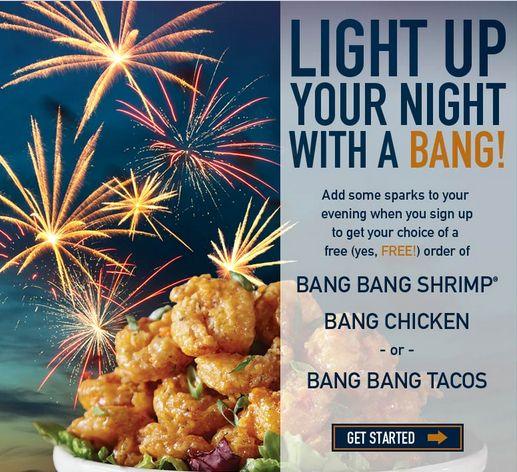 FACEBOOK COUPON $$ Reminder: FREE Order of Bang Bang Shrimp, Bang Chicken or Bang Bang Tacos at Bonefish Grill – Offer Ends SUNDAY (7/28)!