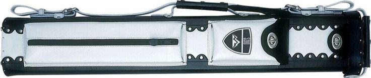 5280 RM24 2x4 Leather Hard Cue Case - White/Burgundy