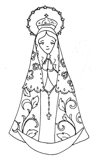 our lady catholic coloring page