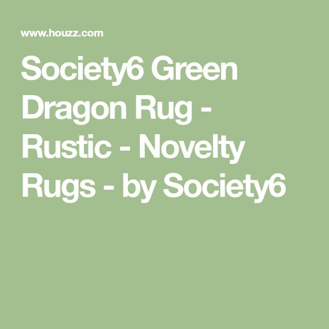 Society6 Green Dragon Rug - Rustic - Novelty Rugs - by Society6